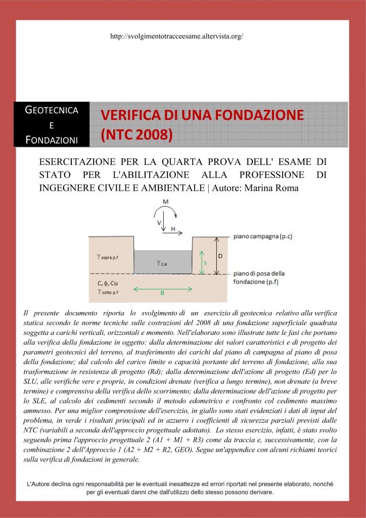 Tracce di geotecnica archivi svolgimento tracce d 39 esame for Test ingresso ingegneria